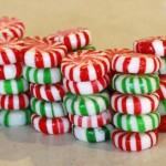 I used red and green candy