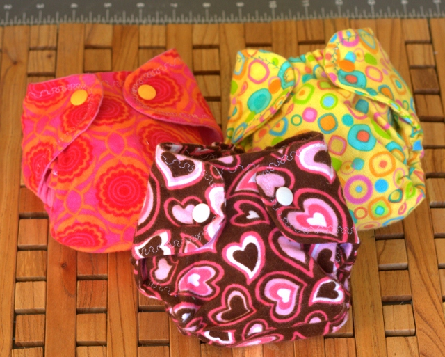 diapers with snaps added