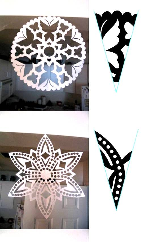 These patterns for making snowflake shapes look like a lot of fun ...