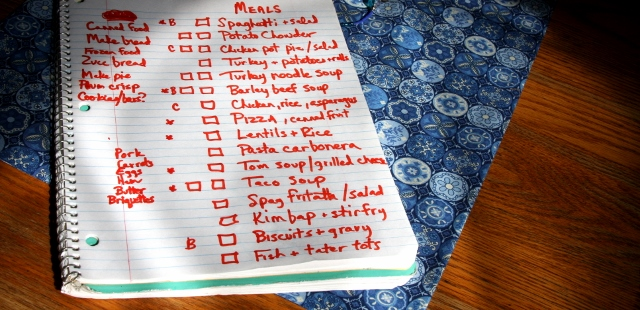 Menu planning doesn't have to be complicated