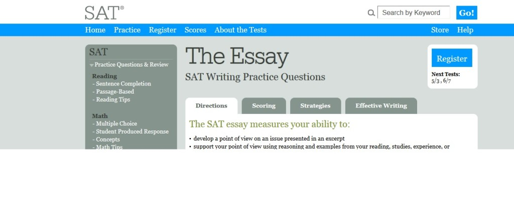sat essay 2005 Sat essay view for colleges and and june administrations were made available for batch download in august 2005 batch essays are available on the web after.