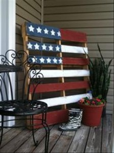 4th of July Flag Pallet