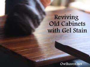 Reviving old cabinets with stain