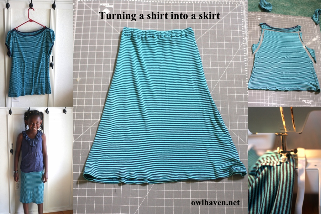 how to turn a shirt into a skirt