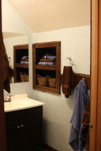Another favorite bit:  the towel cubby